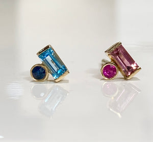 14K Gold Colores Stud Earring