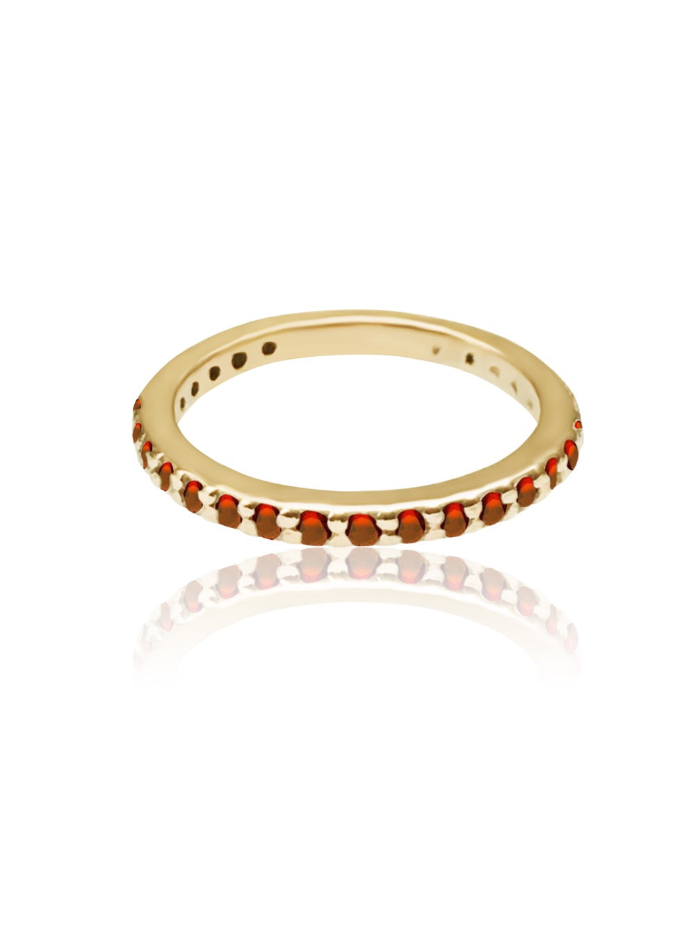 14k Gold Gemstone Band