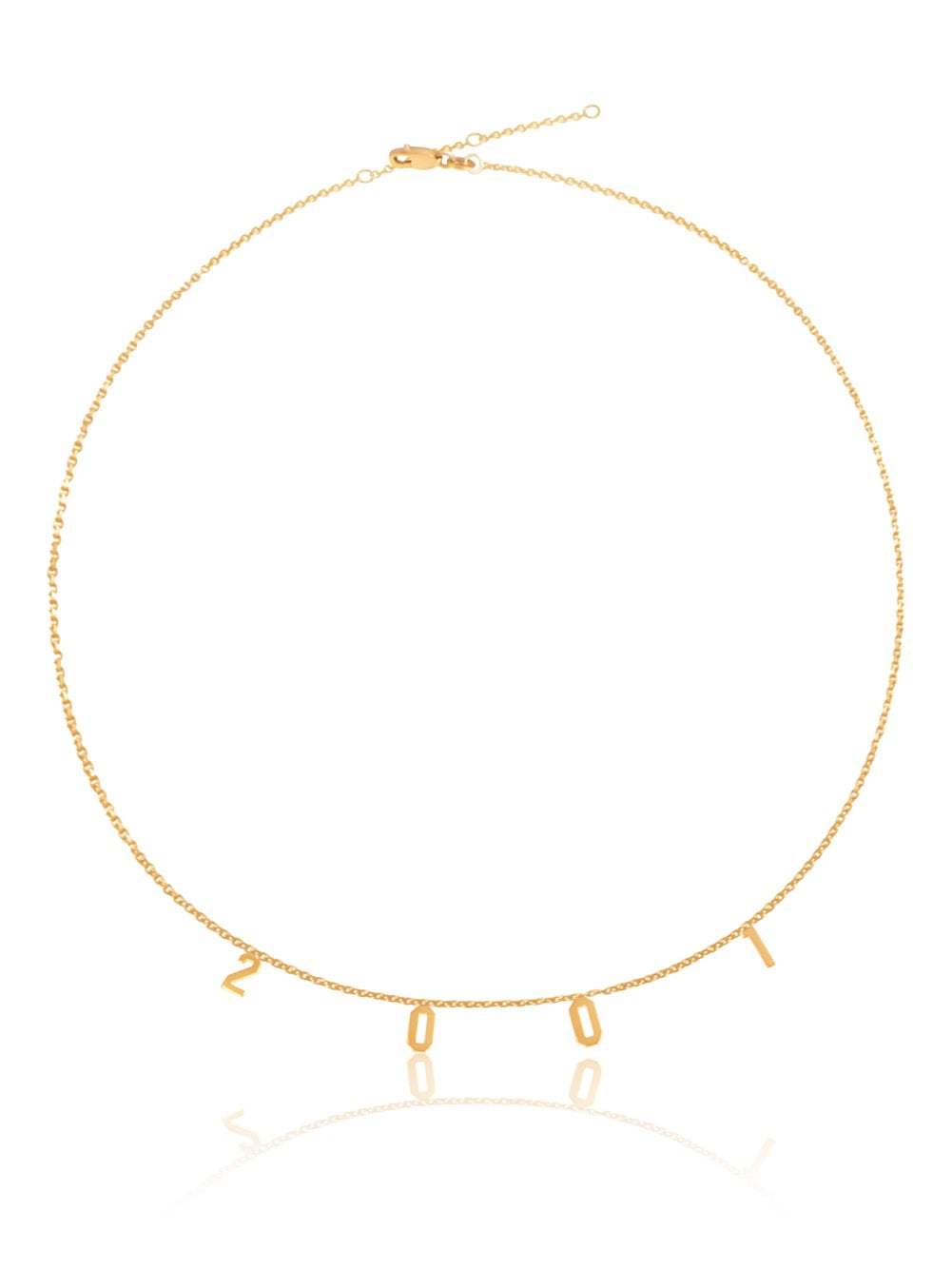 14k Gold personalized Number Necklace