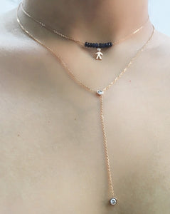 Mom 14k Diamond & Gemstone Chocker