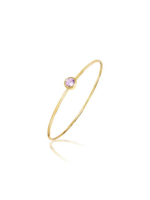 14K Gold & Gemstone Bangle
