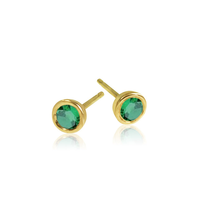 keila jewelry bezel emerald stud earrings