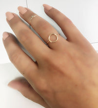 14k Solid Gold Circle Ring