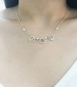 14K Gold & Diamond Initial Necklace