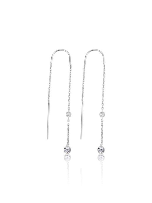 keila jewelry bezel diamond chain earrings