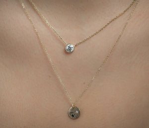 14k Diamond Love Is In Your Hands Necklace