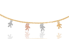 14k Mom Diamond Mini Children Necklace