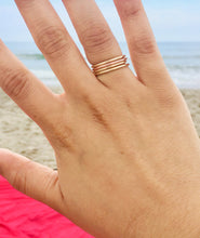 14K Plain Stackable Band
