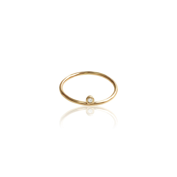 14K Gold Diamond Midi Ring