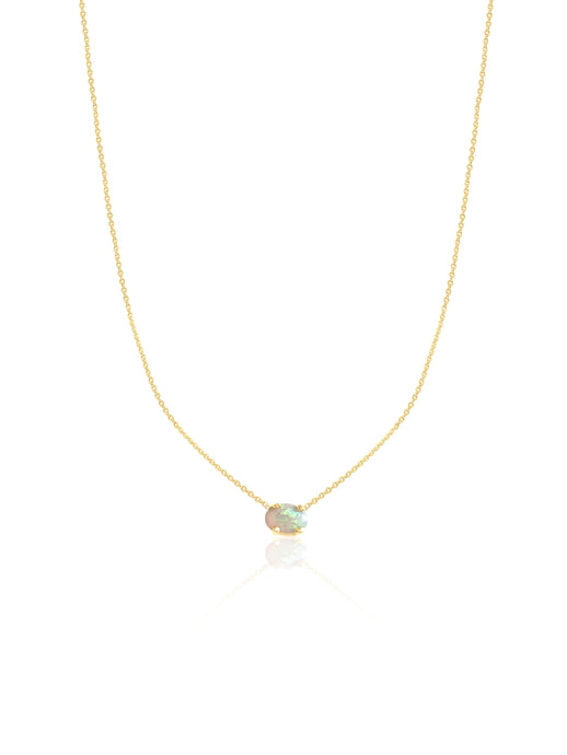 14K Gold Opal Necklace
