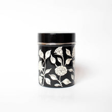 Painted White Flower Jar