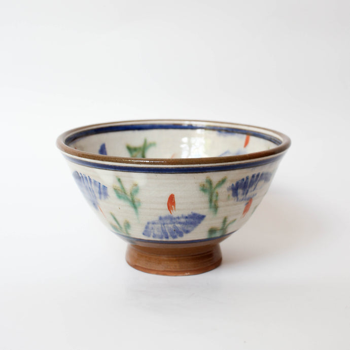 Floral Hand-painted Ceramic Bowl