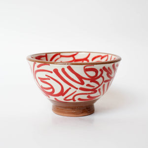 Painted Ceramic Red Bowl