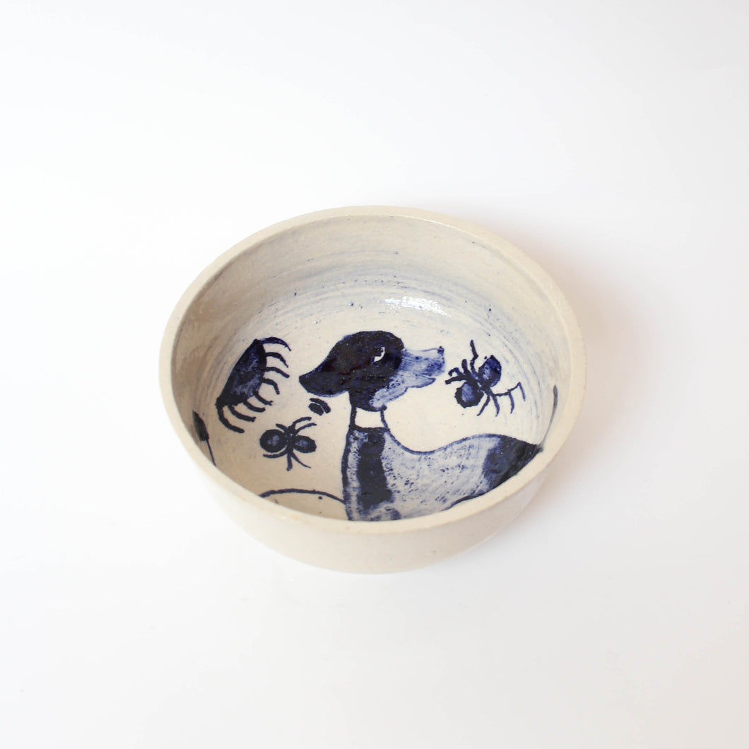 Hand-painted Dog Design Bowl