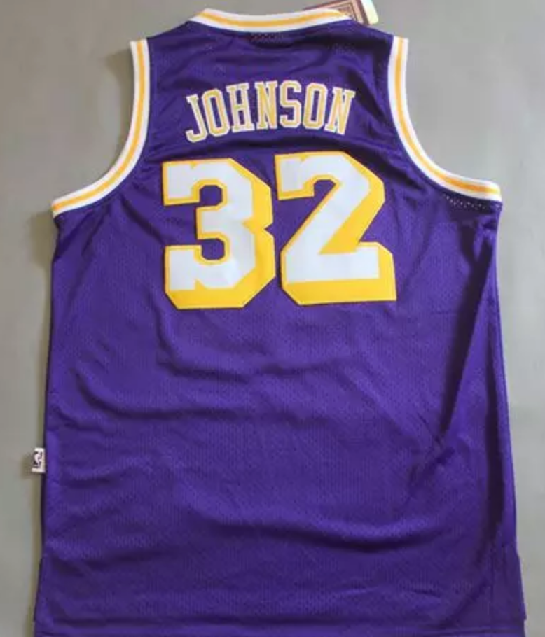 online store f7cc5 ac2e6 Magic Johnson Los Angeles Lakers Jersey
