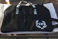 Victoria's Secret PINK Double Strap Duffle Gym Bag - Gray or Black - Outlet44.com