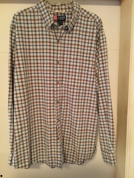 RL Chaps Multi color button up XL TG (tall) - Outlet44.com