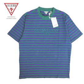 Guess Original x A$AP Rocky  David Reactive Short Sleeve Crew- Turquoise - Outlet44.com
