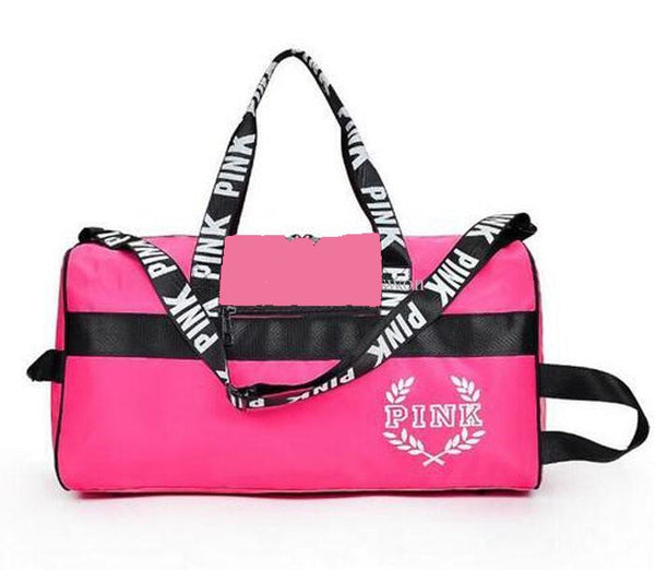 Victoria's Secret PINK Double Strap Duffle Gym Bag - Gray or Black