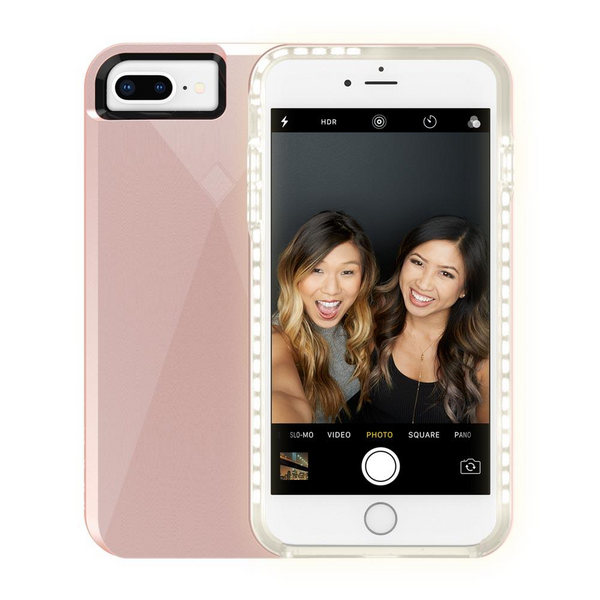 Incipio IPH-1623-RSE Iphone 7 Plus Light Up Selfie Case - Rose Gold - Outlet44.com