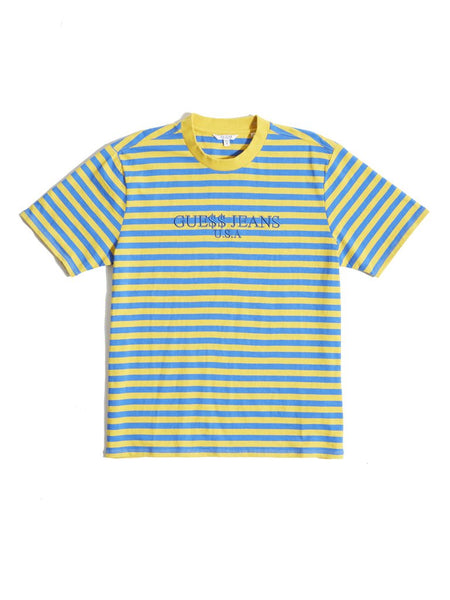 Guess Original x A$AP Rocky  David Reactive Short Sleeve- Yellow - Outlet44.com