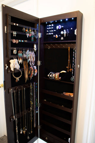 Jewelry organizer cabinet review | Alissa Taylor Designs
