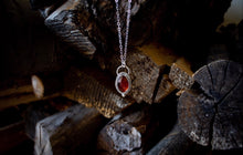 Load image into Gallery viewer, Hessonite Garnet Necklace