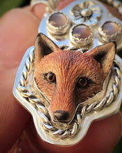 Load image into Gallery viewer, Chocolate Moonstone Fox Necklace - Alissa Taylor Designs