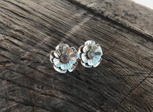 Load image into Gallery viewer, Chocolate Moonstone Flower Earrings - Alissa Taylor Designs