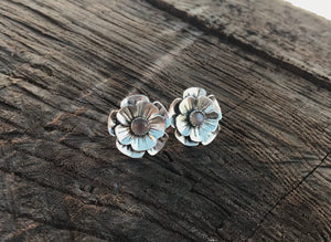 Chocolate Moonstone Flower Earrings - Alissa Taylor Designs