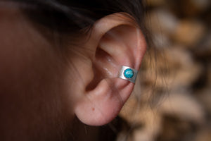 Turquoise Sterling Silver Earring Cuff
