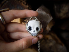 Load image into Gallery viewer, Porcelain Clay Skull Necklace