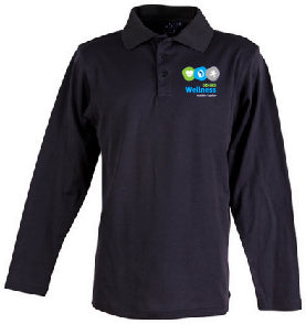 DDHHS Wellness Victory Plus Long Sleeved Polo Mock-up