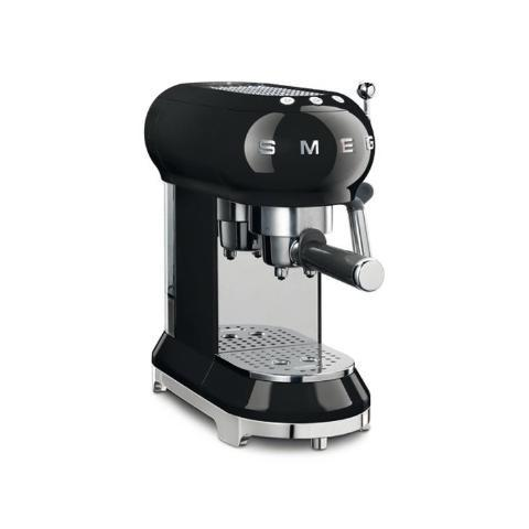 Smeg ECF01BLUK Black Coffee Machine - KBME