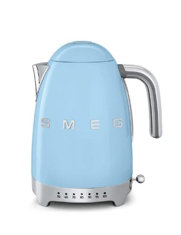 Smeg KLF04PBUK Pastel Blue Variable Temperature Cordless Electric Kettle - KBME