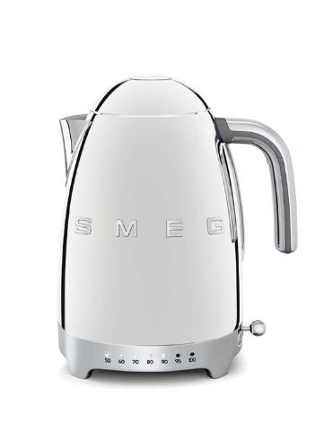 Smeg KLF04SSUK Silver Variable Temperature Cordless Electric Kettle - KBME