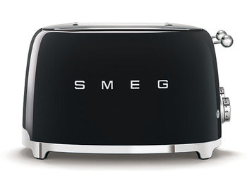 Smeg 4 Slot 4 Slice Toaster Black