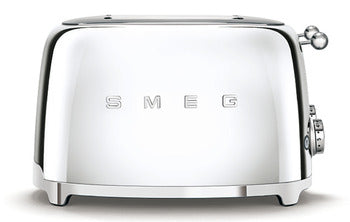Smeg 4 Slot 4 Slice Toaster Chrome
