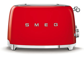 Smeg Red 4 Slot 4 Slice Toaster Red