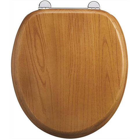 Burlington Oak Bar Hinge Toilet Seat - KBME