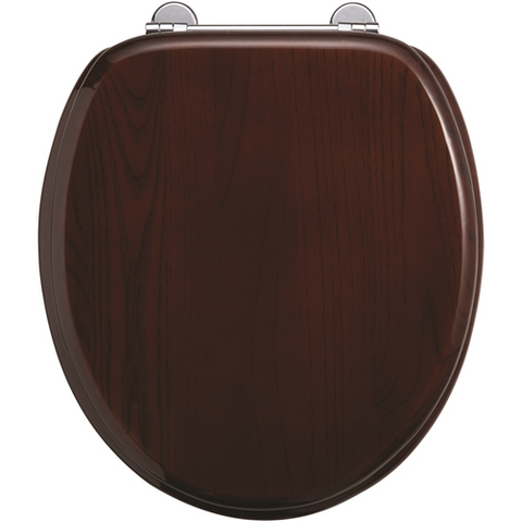 Burlington Mahogany Bar Hinge Toilet Seat - KBME