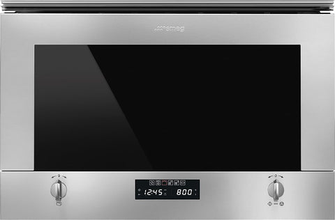 Smeg MP422X1 Wall Unit Microwave Oven with Grill (312mm Depth)