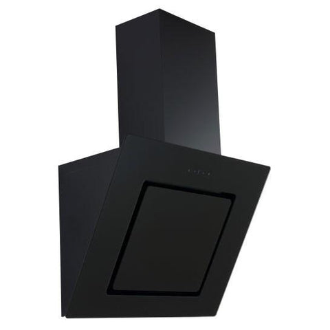 Unbranded (Ubhh60/79/90/100Bk) Black Angled Glass Hood With Touch Controls Chimney Cooker Hoods