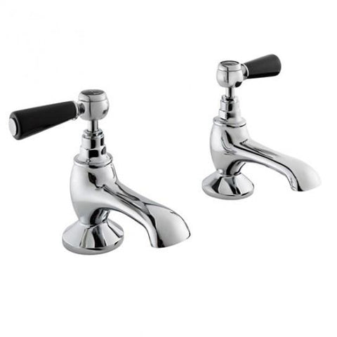 Hudson Reed Topaz Black Lever With Hexagonal Collar Bath Taps Lp1 Bath Taps
