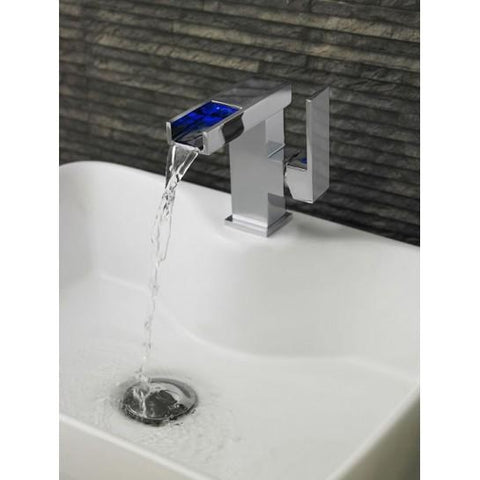 Hudson Reed Art Mini Mono Basin Mixer Mp Features Led Light Technology With Waste