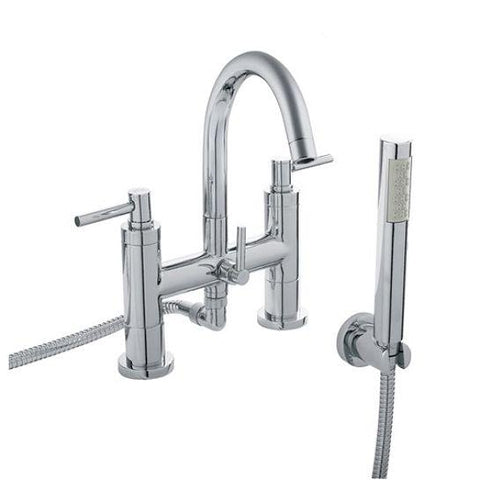 Hudson Reed Tec Lever Bath Shower Mixer Lp2 With Swivel Spout Kit And Wall Bracket