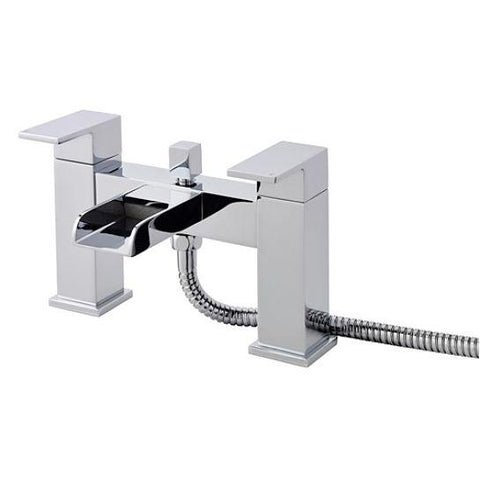 Hudson Reed Strike Open Spout Bath Shower Filler Lp1 With Kit And Wall Bracket