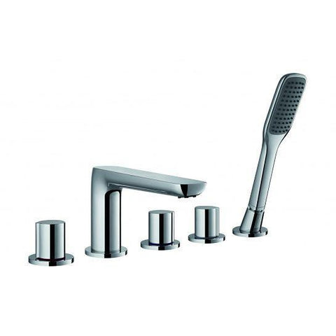 Allore 5-Hole Bath And Shower Mixer With Set