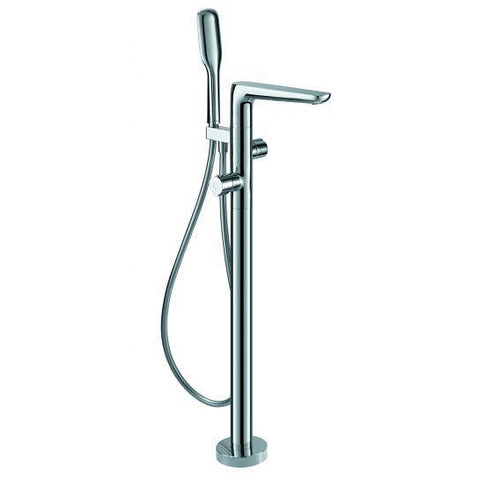Allore Thermostatic Floor Standing Single-Lever Bath And Shower Mixer With Set