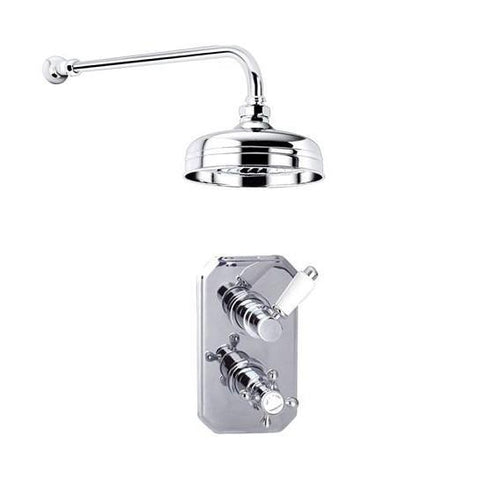 Ace Traditional Shower Head And Single Outlet Thermostatic Valve Mixers